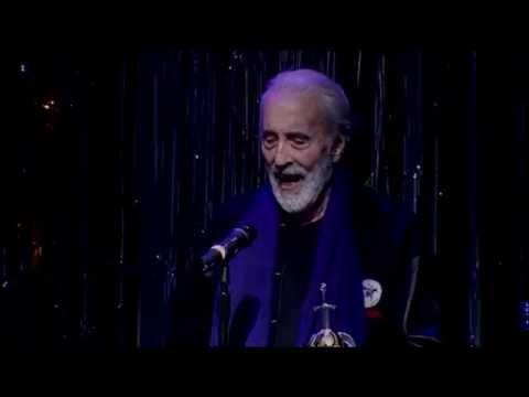 Sir Christopher Lee receives the Spirit of Hammer, Golden Gods 2010