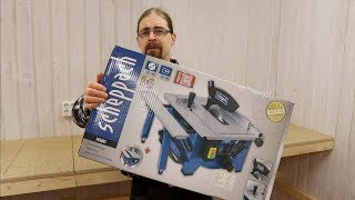 Scheppach HS80 Table Saw Unboxing