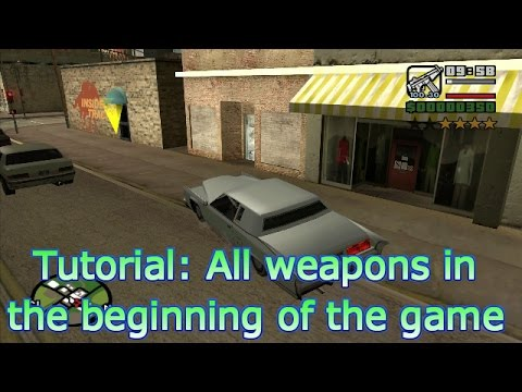 GTA San Andreas - How to collect all of the heavy weapons in the beginning of the game