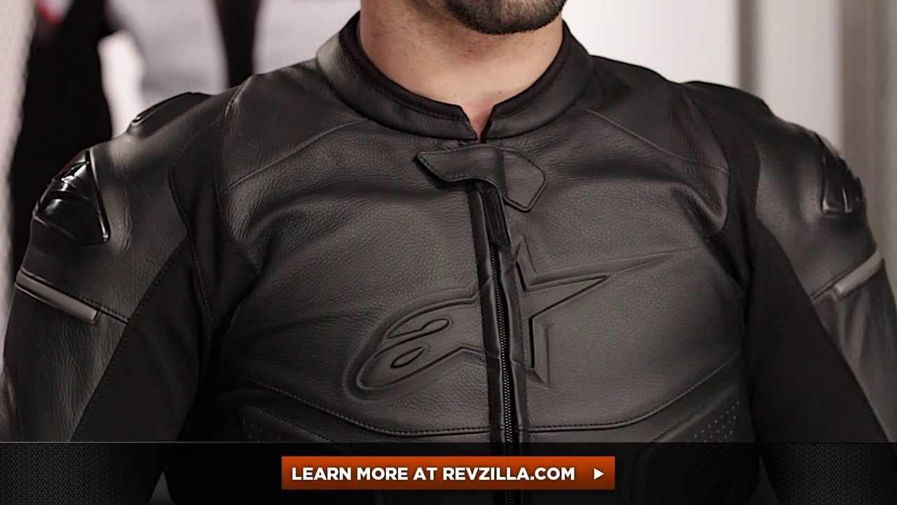Alpinestars Leather Jacket >> Alpinestars Black Shadow Phantom Jacket Review at RevZilla.com - YouTube