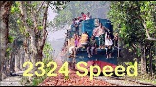 High-speed Train Egarosindur Express passing A Beautifull Area -4k