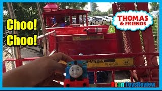 THOMAS AND FRIENDS Train Ride for kids Thomas the tank Engine Percy Ryan ToysReview
