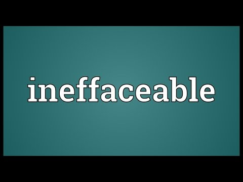 Header of ineffaceable