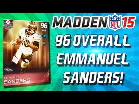 Madden 15 Ultimate Team - 96 OVERALL EMMANUEL SANDERS! BUDGET GEMS! - MUT 15