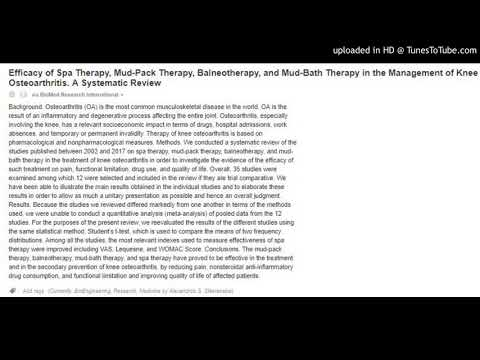 Knee Osteoarthritis : Spa Therapy,Mud-Pack Therapy,Balneotherapy,Mud-Bath Therapy