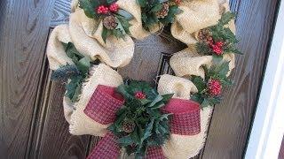 Affordable Burlap Wreath