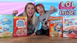 Mystery Cereal Box Toy Unboxing Challenge! with L.O.L. Surprise, Moj Moj, MLP, Trolls..