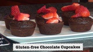 Gluten Free Chocolate Cupcakes - Dairy Free, Flourless