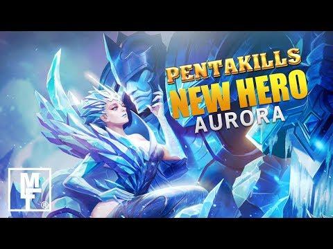 NEW HERO AURORA FIRST GAMEPLAY - NEW Starlight Member Skin Gameplay Aurora! Mobile Legends
