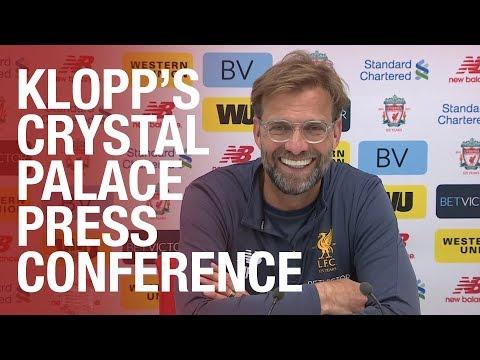Jürgen Klopp's pre Crystal Palace press conference