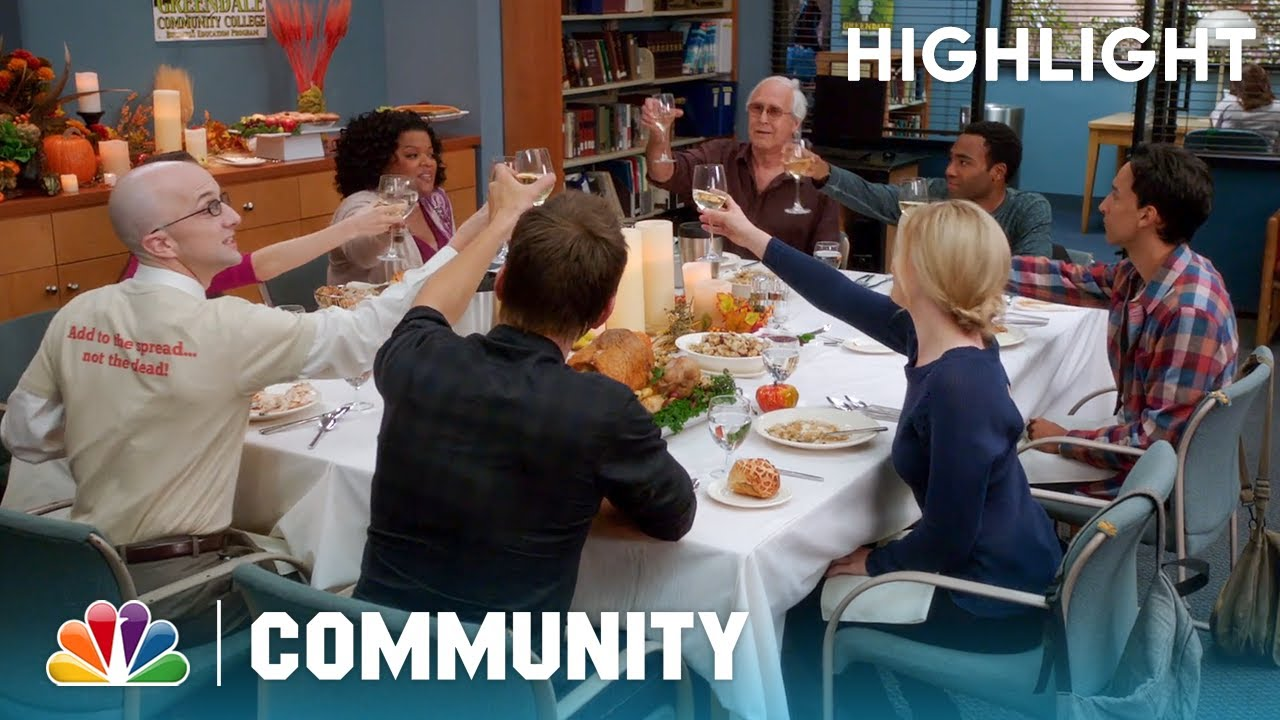 The Study Group's Real Thanksgiving - Community (Episode Highlight)