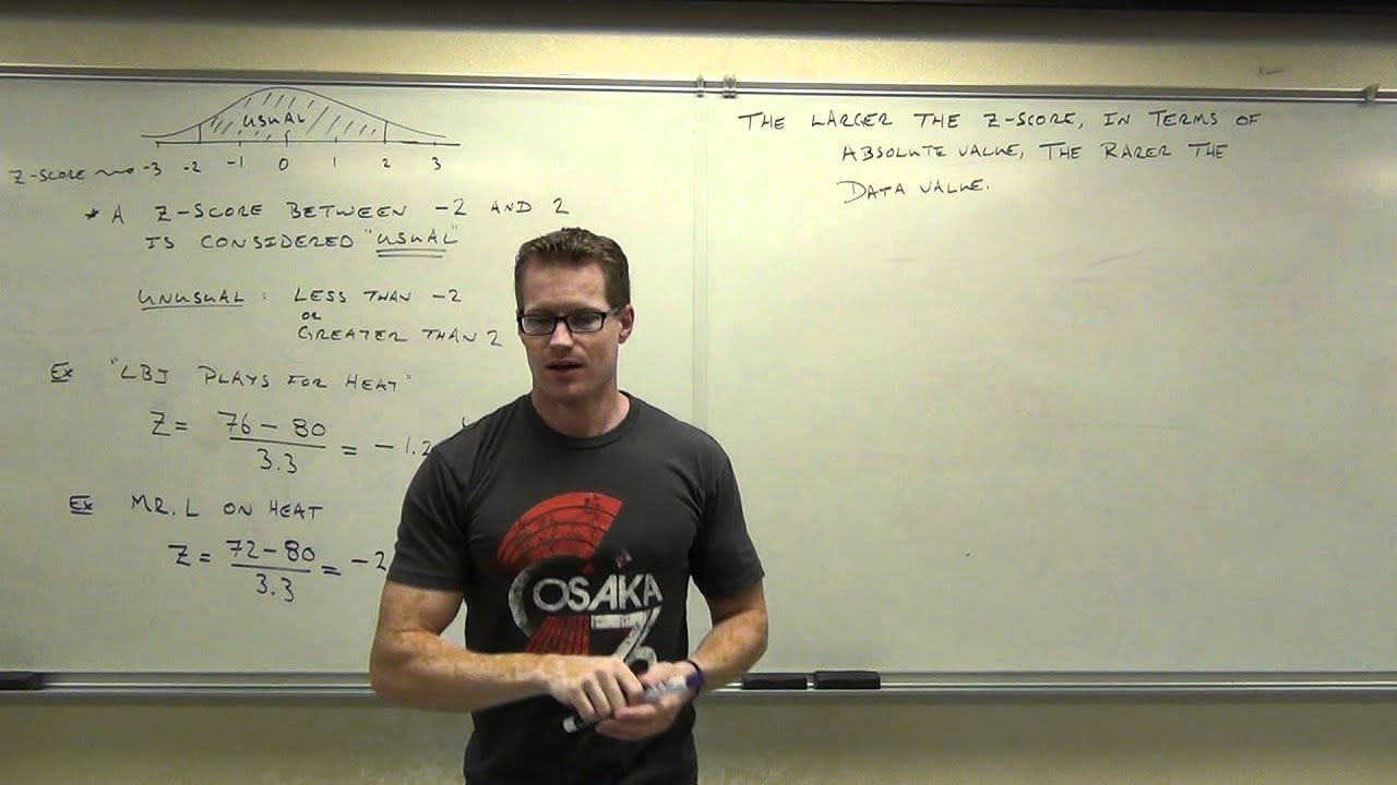 Statistics Lecture 3 4 Finding Z Score Percentiles And