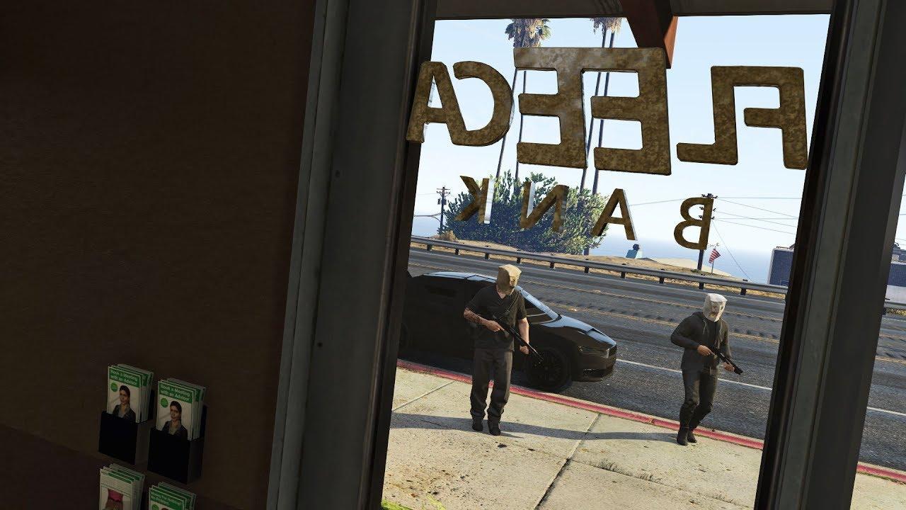 robbing the fleeca bank gta 5