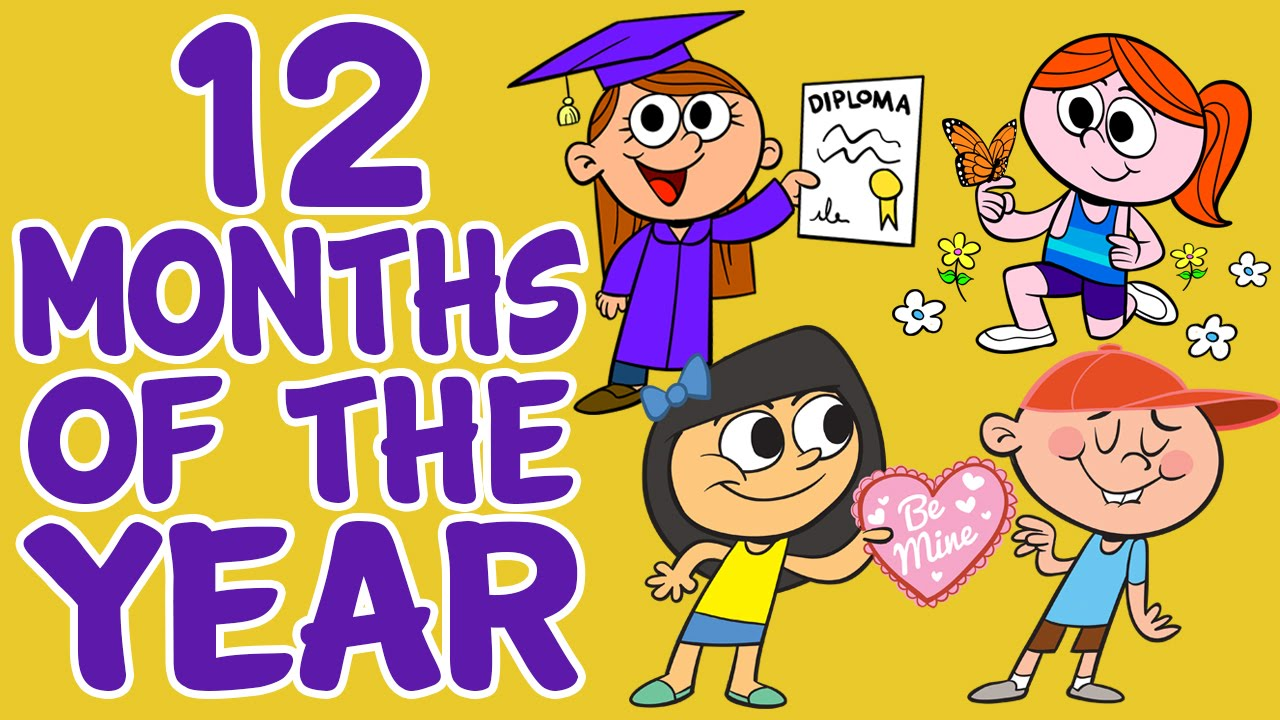 Months Of The Year Song 12 Months Of The Year Kids