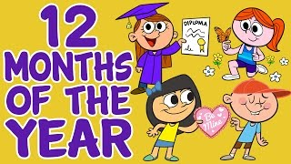 Months of the Year Song - 12 Months of the Year - Kids Songs