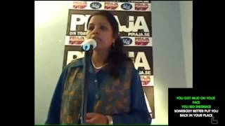 Indian Lady sings we will rock you - with music (Cover) Karaoke with lyrics