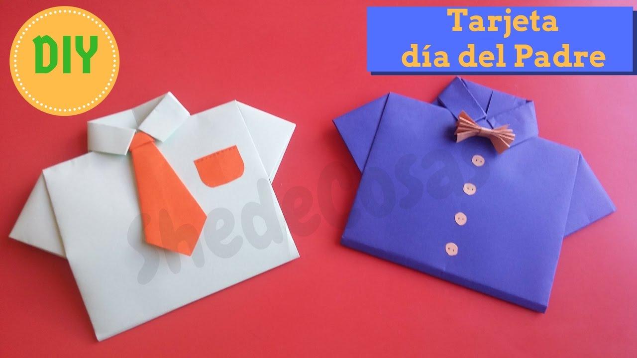 Tarjeta en forma de camisa, Día del Padre!! DIY :) - YouTube