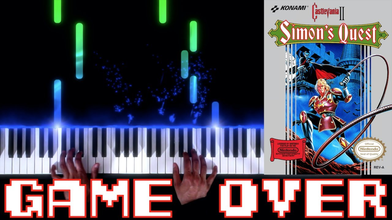 Castlevania II: Simon's Quest (NES) - Game Over - Piano|Synthesia