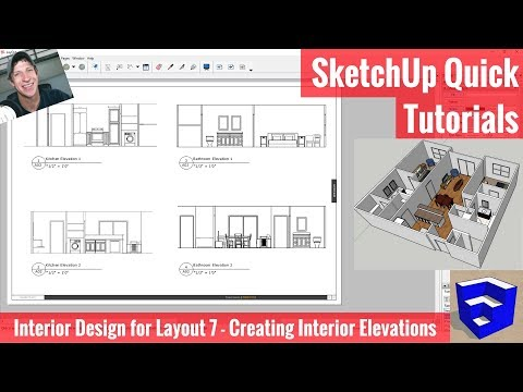Interior Elevations in Layout from Your SketchUp Model - Interior Design Modeling for Layout #7