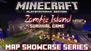 PS3 Minecraft Map Showcase: Episode 27: Zombie Island (Dead Island) Survival Game