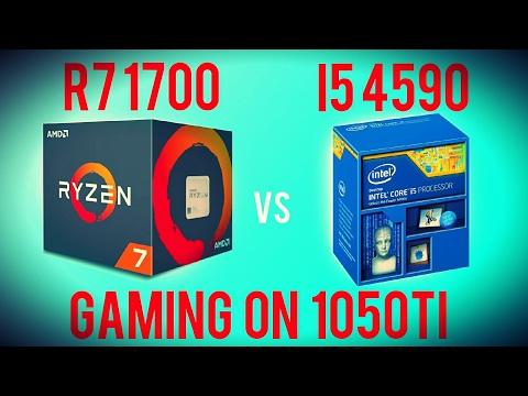 RYZEN 7 1700 vs Core i5 4590 - Benchmarking Ryzen with a GTX 1050Ti