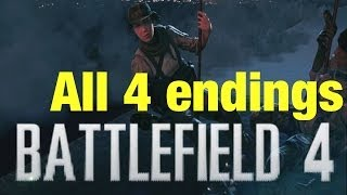 All 4 Battlefield 4 endings