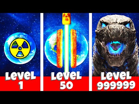 Destroying SECRET GODZILLA PLANET (Solar Smash 2)