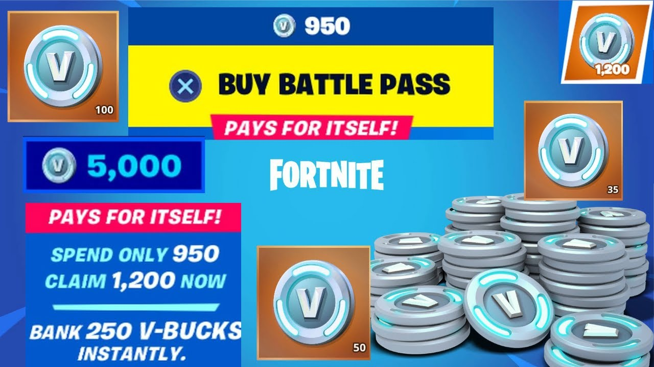 5000 Free V Bucks and the Battlepass for Free in 4 Weeks ...
