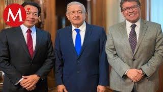 AMLO se reune con lideres de Morena en el Congreso