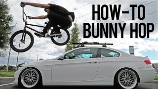 how to Bunny Hop on a BMX Bike - Как сделать Банни-хоп Дима Гордей  Школа BMX Online
