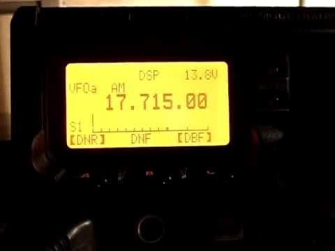 Voice of America 17715 kHz transmitting from Pinheira, Sao Tome and Principe, 100kW TX