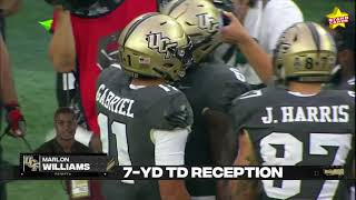 9/19/20 – dillon gabriel passes for 417 yards while finding marlon williams and tre nixon two tds each, as 14th-ranked ucf crushes georgia tech 49-21.#uc...