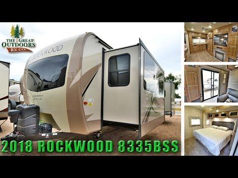 New Updated Interior 2018 ROCKWOOD 8335BSS Rear Bedroom RV Camper Colorado Dealer