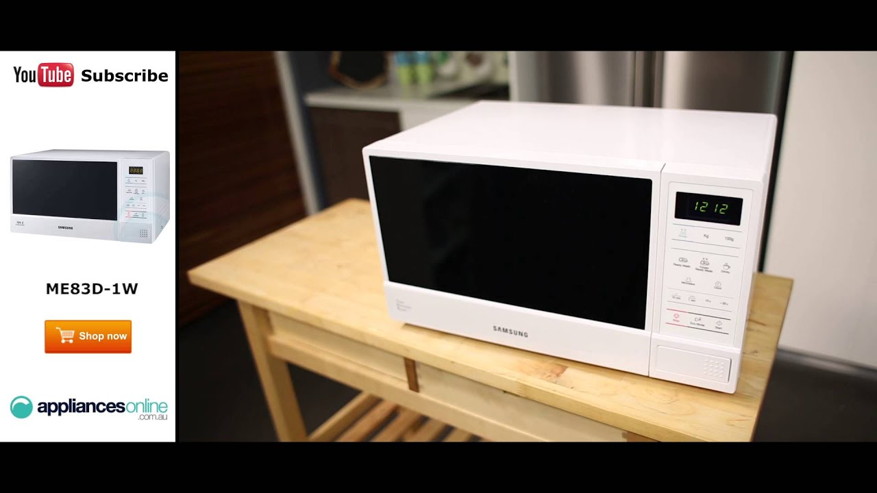 samsung microwave me83d 1w reviewed by expert appliances online - Samsung Microwaves