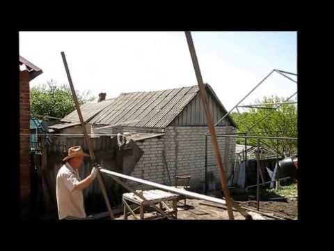 видео: гараж из металопрофиля 2013