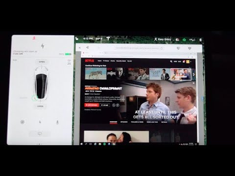 YouTube and Netflix on V 10 Tesla Software Update