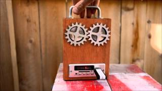 MP3 Cigar Box Radio Rechargeable Music Player #2