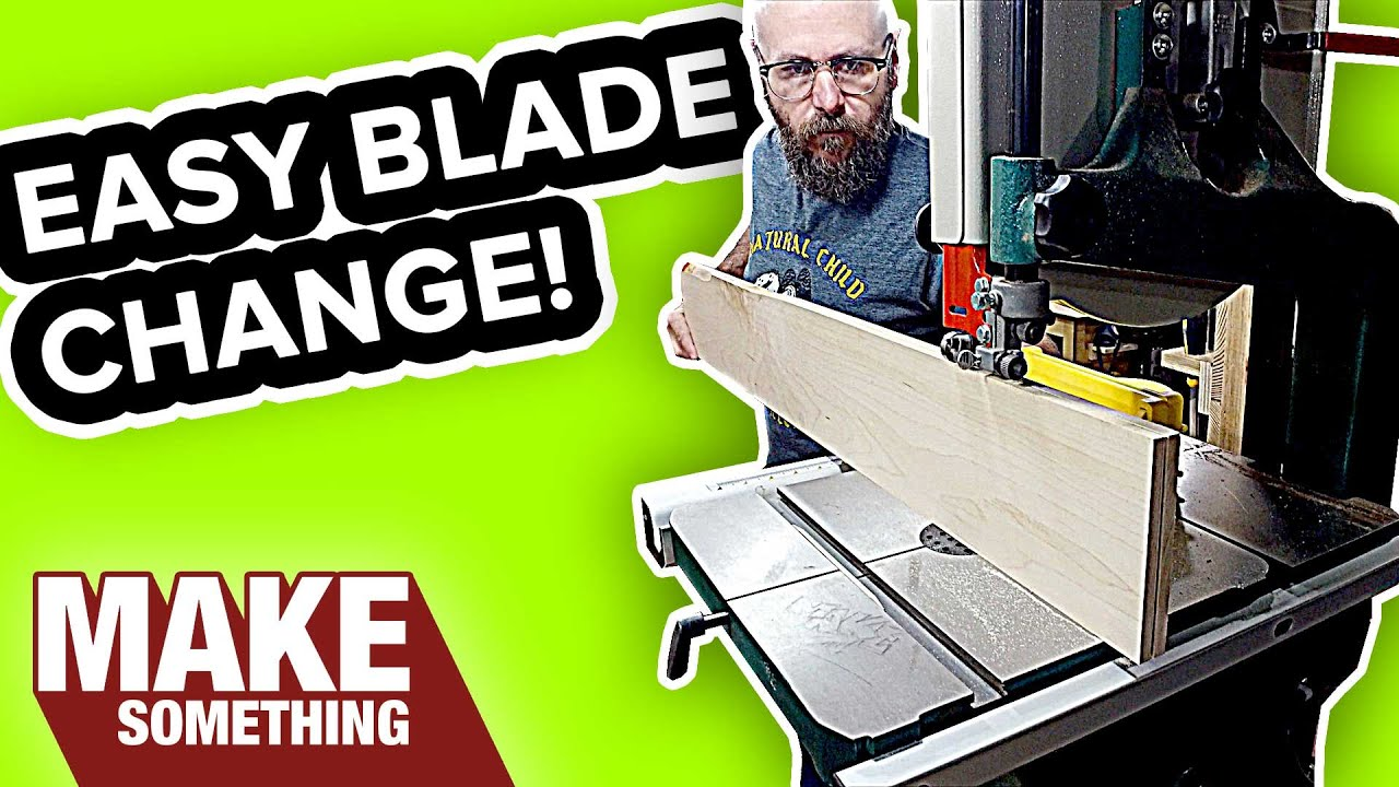 How to change a bandsaw blade the easy way youtube greentooth Image collections