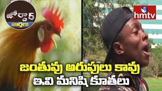 Mimicrist Making Voices of Animals And Birds | Jordar News | Telugu News | hmtv