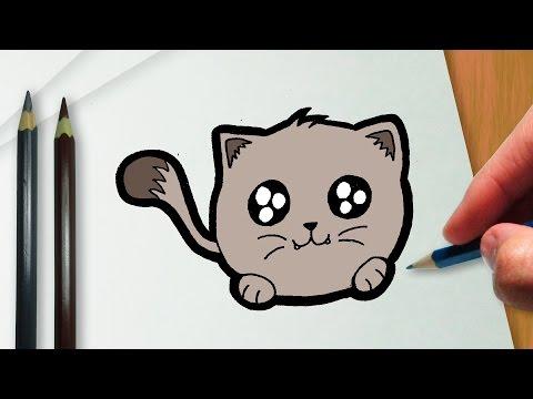 Como Desenhar Um Gatinho Kawaii Youtube
