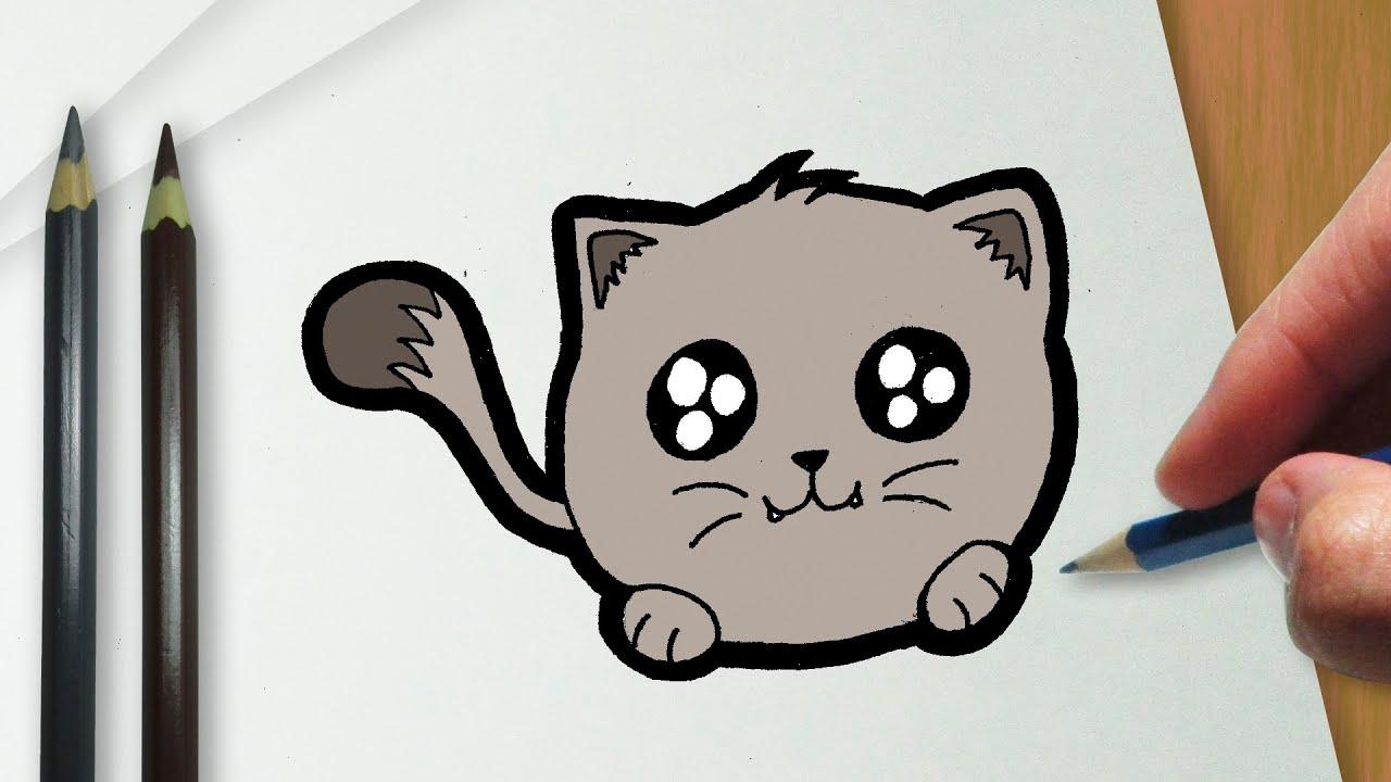 Como Desenhar Coisa Amorosa: Como Desenhar Um Gatinho Kawaii