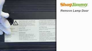 Panasonic TY-LA1000-C Lamp Replacement Guide for DLP TV