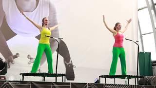 Занятия на батуте для похудения заминка / Classes on the trampoline for weight loss  hitch