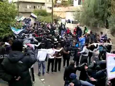 شام ؛؛ درعا المحطه  ؛؛مظاهرات الاحرار دعم الجيش الحر ؛؛ 13 1 2012جـ1
