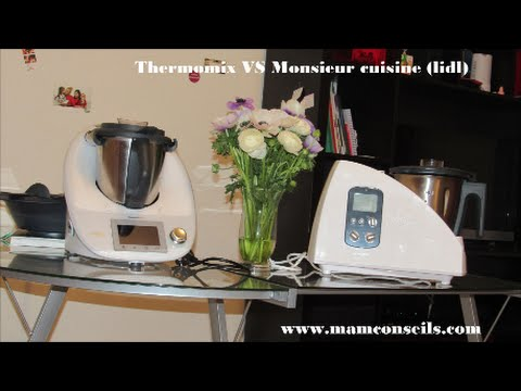 Comparatif Thermomix Et Monsieur Cuisine Sylvercrest Youtube