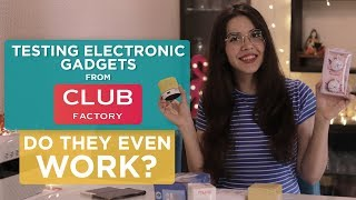 **UNEXPECTED RESULTS ** Testing Electronic Devices From Club Factory | #Vlogmas Day 10