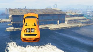 Massive Car Water Jump (GTA 5 Funny Moments)