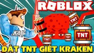 Roblox | KIA VAMY USES TNT to LAUNCH the giant KRAKEN OCTOPUS-Escape Kraken Island 🐙 | KiA Pham