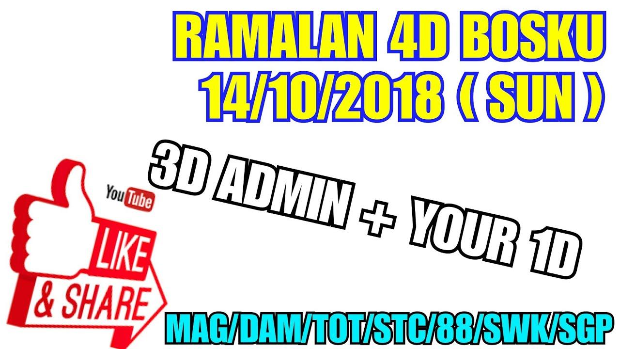 RAMALAN 4D BOSKU 14/10/2018 ( SUN ) - hmong video