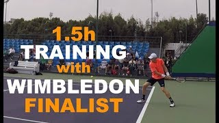 Training With Kevin Anderson - Part 1   Rolex Shanghai Masters 2018 (TENFITMEN)
